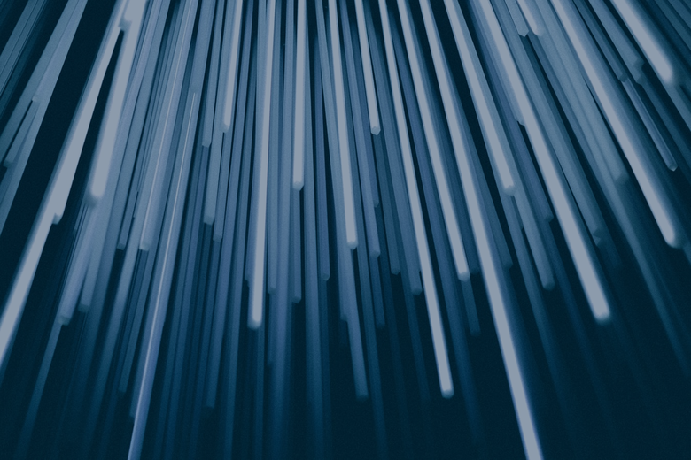 Abstract blue vertical lines