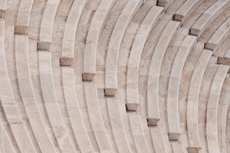 Roman ampitheatre stone seats