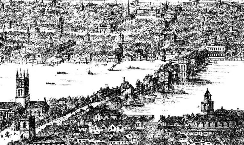 panorama of london in 1543 wyngaerde section
